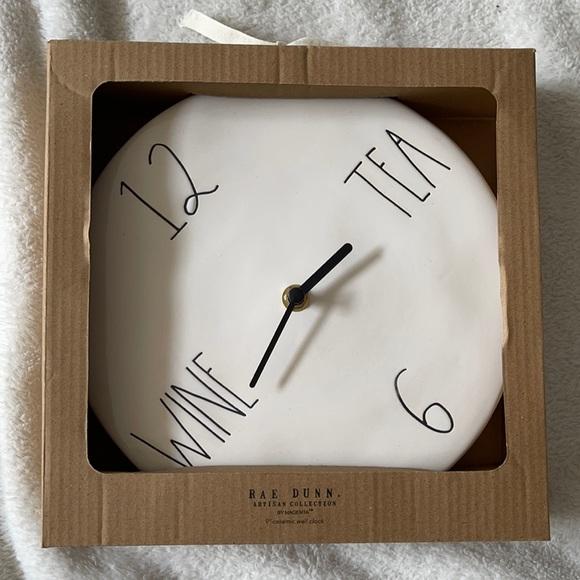 Rae Dunn Wine/Tea Wall Clock ⚠️ FIRM